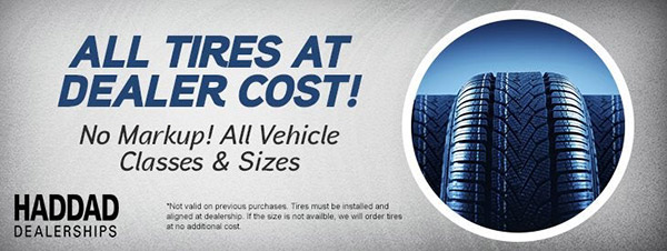 All Tires At Dealer Cost!